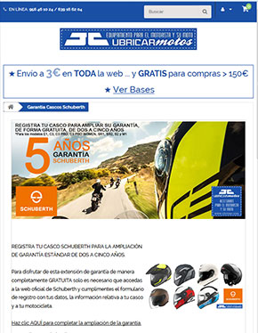 Ubricarmotos en dispositivos móviles